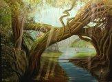 Helen Forsberg. Fantasyland,akryl 80x100 cm. 2000 Kr